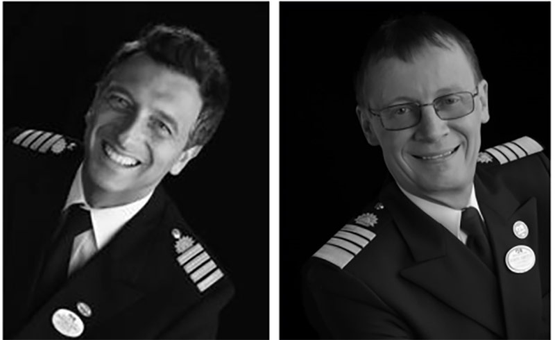 Princess Captains Gennaro Arma and John Smith (from left to right)
