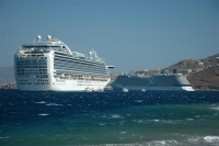 The Ruby Princess and Celebrity Solstice.