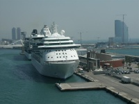 Barcelona is a major player in the Med - where cruise ships will carry an estimated 3.6 million passengers in 2009