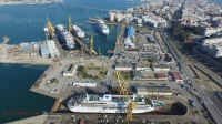 Four Cruise Ships at Navantia Shipyard