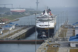 Disney Wonder Transits New Canal Locks