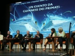 At today's press conference in Genoa, from left:  Howard Frank, vice chairman and COO of Carnival Corporation; Micky Arison, chairman and CEO of Carnival Corporation; Pier Luigi Foschi, chairman of Costa Crociere; Giuseppe Bono, president  of Fincantieri;  Margherita Bozzano, director of tourism for the Liguria region; and Marta Vincenzi, mayor of Genoa.
