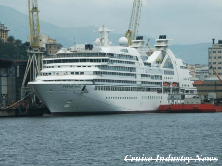 The Seabourn Odyssey nearing completion at T. Mariotti.
