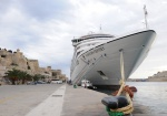 Seabourn Odyssey berthed at the Valletta Waterfront