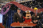 Disney Cruise Line began construction on two new ships today with a steel cutting ceremony at the Meyer Werft shipyard in Papenburg, Germany.