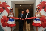 Official opening of the 17th FCCA conference. Dominican Republic Minister of Tourism, Francisco Javier Garcia Fernandez and Kevin Sheehan, CEO of Norwegian Cruise Line, cut the ribbon in Santo Domingo.