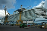 The Allure of the Seas nearing completion at Turku shipyard.