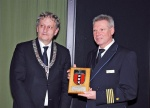 Mayor of Amsterdam, Eberhard van der Laan, handed Captain Detlef Harms the key of the city