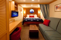 Inside  cabin on the Dream, note the virtual porthole.
