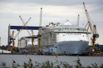 Oasis of the Seas under construction at STX Europe in Finland. Royal Caribbean has hinted at a looming newbuild order. Industry sources are pointing at Meyer Werft as the yard that will get the contract.
