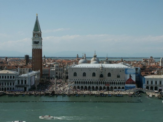 Passing Piazza San Marco in Venice.