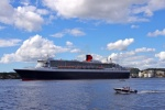 QM2 alongside in Kristiansand