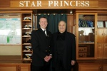 Captain Edward Perrin met with Gregory Melikian on the Star Princess bridge.