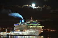 Celebrity Eclipse at night in Ponta Delgada (photo: Antonio Rebelo)