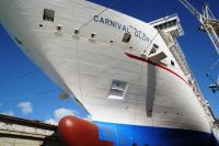 Carnival Glory in drydock
