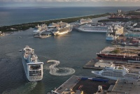 Busy ship day in Port Everglades
