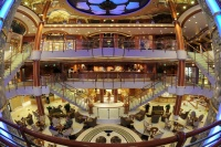 Sapphire Princess now features a new Piazza-style atrium.