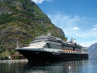 ms Eurodam in Flåm, Norway