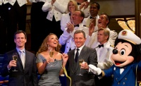 Singer Mariah Carey joins Walt Disney Company President and CEO Robert A. Iger (right), Walt Disney Parks and Resorts Chairman Thomas O. Staggs and Mickey Mouse for the christening of the newest ship of Disney Cruise Line, the Disney Fantasy, in New York City, on March 1, 2012. In a maritime tradition, the award-winning recording artist served as godmother for the 4,000-passenger Disney Fantasy, which sails to her home port of Port Canaveral, Fla. later this month to begin seven-night cruises to the Caribbean and Disney's private island, Castaway Cay. (Matt Stroshane/Disney, photographer)