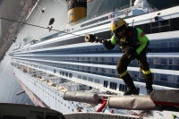 From the rescue effort on the Costa Concordia (photo:Corpo Nazionale Vigili Del Fuocoo)