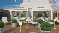 The Sanctuary aboard Royal Princess invites adults to relax in style.