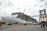 Royal Princess under construction at Fincantieri
