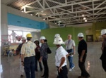 Carnival staff tours cruise terminal construction at Port Everglades.