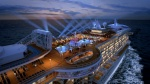 Royal Princess' top deck will feature the SeaWalk, dancing fountains and a larger Movies Under the Stars Screen
