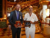 The traditional Plaque Ceremony was held onboard at the morning.