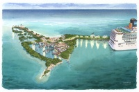 Rendering of the new port project in Belize