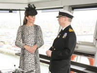 Her Royal Highness The Duchess of Cambridge with Captain Tony Draper