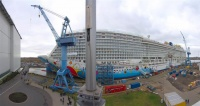 Norwegian Breakaway at the outfitting pier in Germany. (photo: Andreas Depping)
