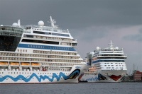 AIDA ships in Hamburg (photo: Oliver Asmussen)