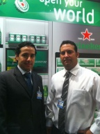 Ernesto Milan, Duty Free Sales Manager and Carlos Candeias, Global Account Manager