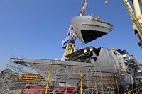 Cruise ship under construction in Italy