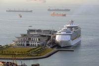 Mariner of the Seas calls at the new cruise terminal in Singapore