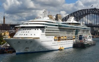 Royal Caribbean International in Sydney Harbor (photo: Clyde Dickens)