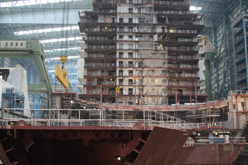 Anthem of the Seas Blocks at Meyer Werft