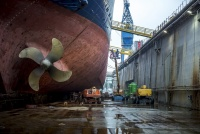 Marco Polo in drydock