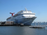 The Carnival Fantasy sails year-round from Charleston.
