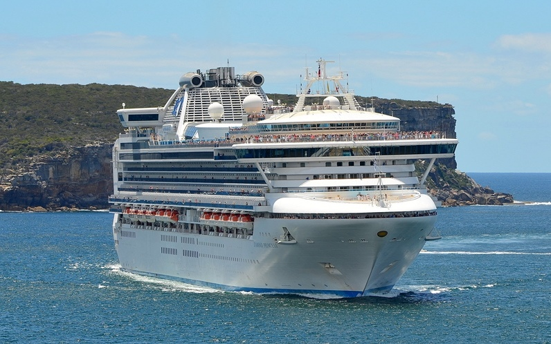 The Diamond Princess will introduce new itineraries for Princess Cruises in Asia. (photoL Clyde Dickens)
