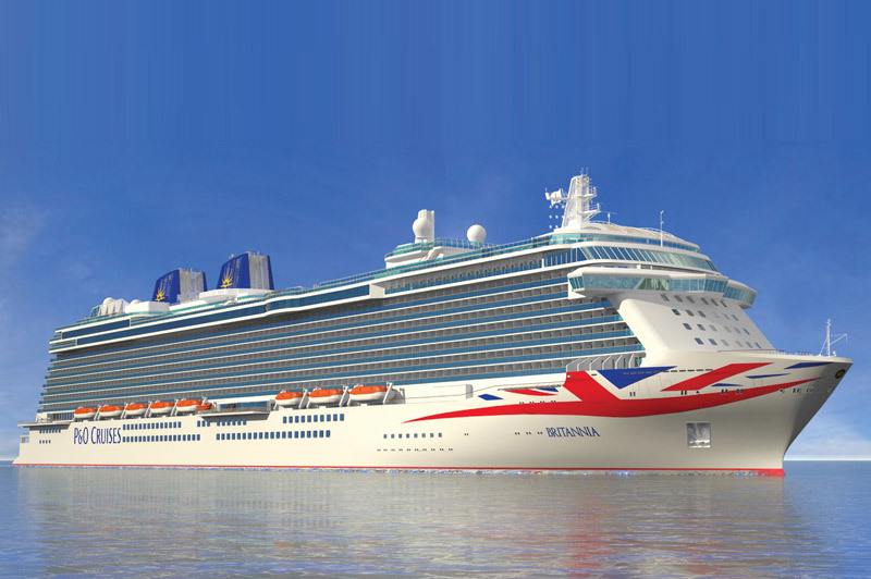 Next year, P&O will introduce its newest and largest ship, the 141,000-ton, 3,611-passenger Britannia