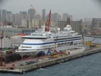 AIDAvita in drydock (photo: Sergio Ferreira)