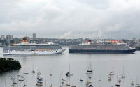 Costa and Cunard in Sydney Harbour (photo: Clyde Dickens)