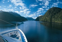 Silversea ship in New Zealand