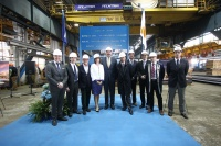 Steeling cutting ceremony for the new Seabourn ship