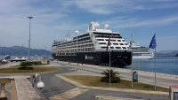 Azamara and Regent call in Corfu early in the 2015 cruise season.