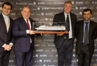 (L-R): Gianni Onorato, Chief Executive Officer MSC Cruise; James Hogan, President and Chief Executive Officer Etihad Airways; Pierfrancesco Vago, Executive Chairman MSC Cruises; Captain Mohamed al Shamsi, Chief Executive Officer Abu Dhabi Ports Company