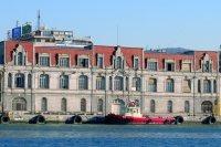 The Macedonia cruise passenger terminal is located in this renovated neoclassical building.