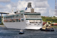 The Vision of the Seas calls on Curacao.